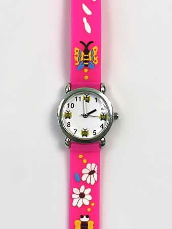 Detské ručičkové hodinky s motívom motýľov