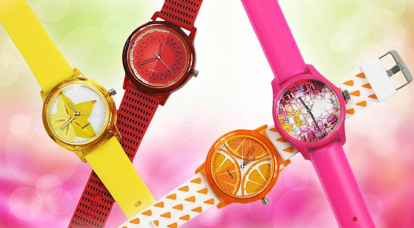 Originálne dámske hodinky vo výrazných farbách - svieži doplnok, pre každú dámu teraz s bonusom 3+1 ZADARMO