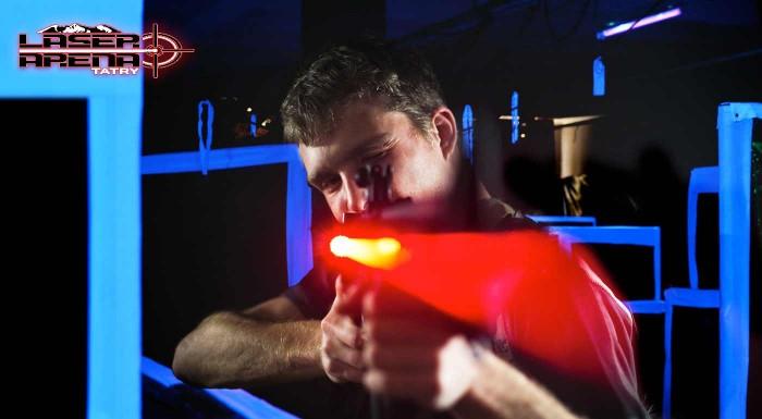 Fotka zľavy: Príďte si na vlastnú kožu zažiť vesmírnu strieľačku ako zo sci-fi filmu. Počas 15 minút si v Laser Aréne v Tatrách preveríte postreh, presnosť, obratnosť a taktické myslenie.