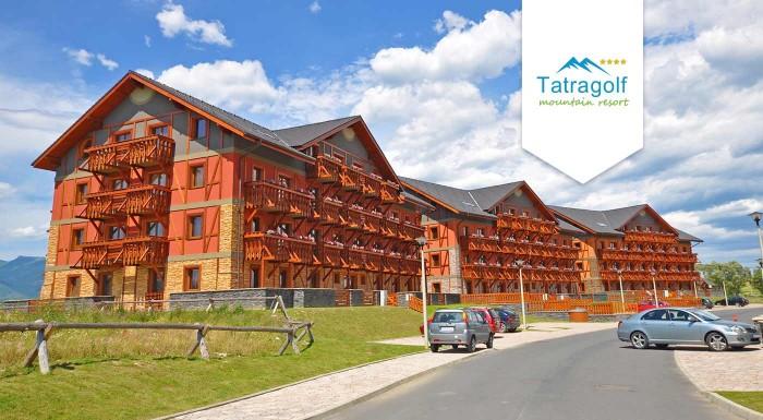 Fotka zľavy: Príďte si užiť krásy tatranskej jesene do apartmánov Tatragolf Mountain Resort vo Veľkej Lomnici na 3 či 7 dní pre dvoch. K tomu zľava na masáže, do aquaparku a wellness.