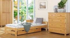 Zľava 45%: Usteľte si na kvalitný spánok a spokojný život na prvotriednom lôžku z prírodného borovicového dreva. Postele Niva alebo Sára v rôznych rozmeroch a farbách podľa požiadaviek klienta.
