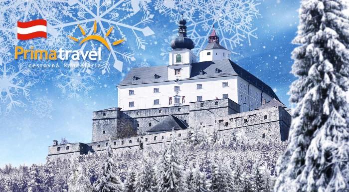 Fotka zľavy: Vianoce a zámky sú kombinácia, ktorej to svedčí. Príďte si vychutnať adventnú atmosféru na rakúsky hrad Forchtenstein a zámok Eisenstadt.