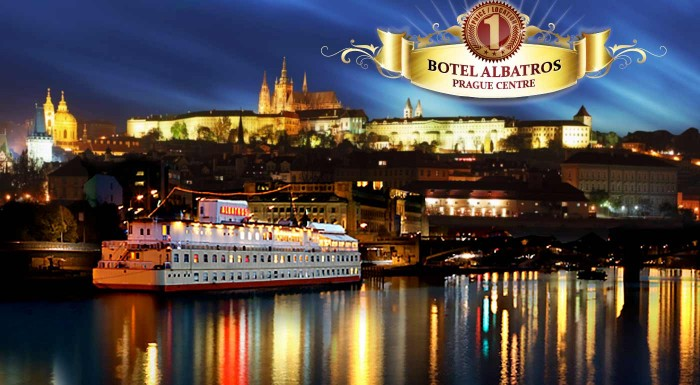 Fotka zľavy: Vychutnajte si romantiku vo dvojici na vlnách Vltavy počas 3 dní v Boteli Albatros*** v centre Prahy vrátane raňajok, bohatej večere a fľaše vína.