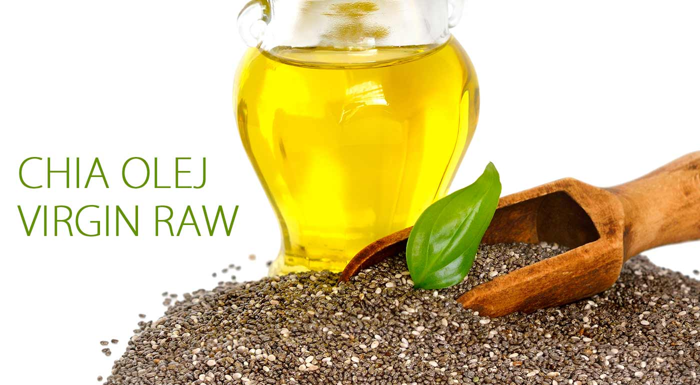 Chia olej virgin raw - za studena vylisovaný zo semienok Chia. Bomba pre vaše zdravie!