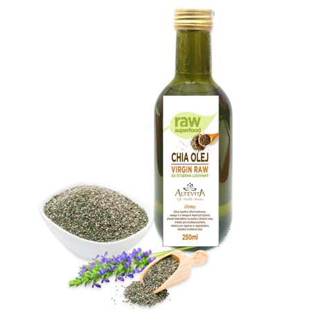 Chia olej virgin raw (250 ml)
