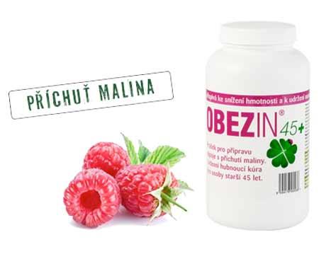 Shake na chudnutie OBEZIN® 45+ malina (14-dňová kúra)
