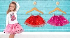 Zľava 50%: Každá mladá slečna sa rada parádi. Venujte vášmu dievčatku roztomilú detskú sukničku s bodkami. Na výber množstvo farieb, ktoré potešia každú parádnicu.