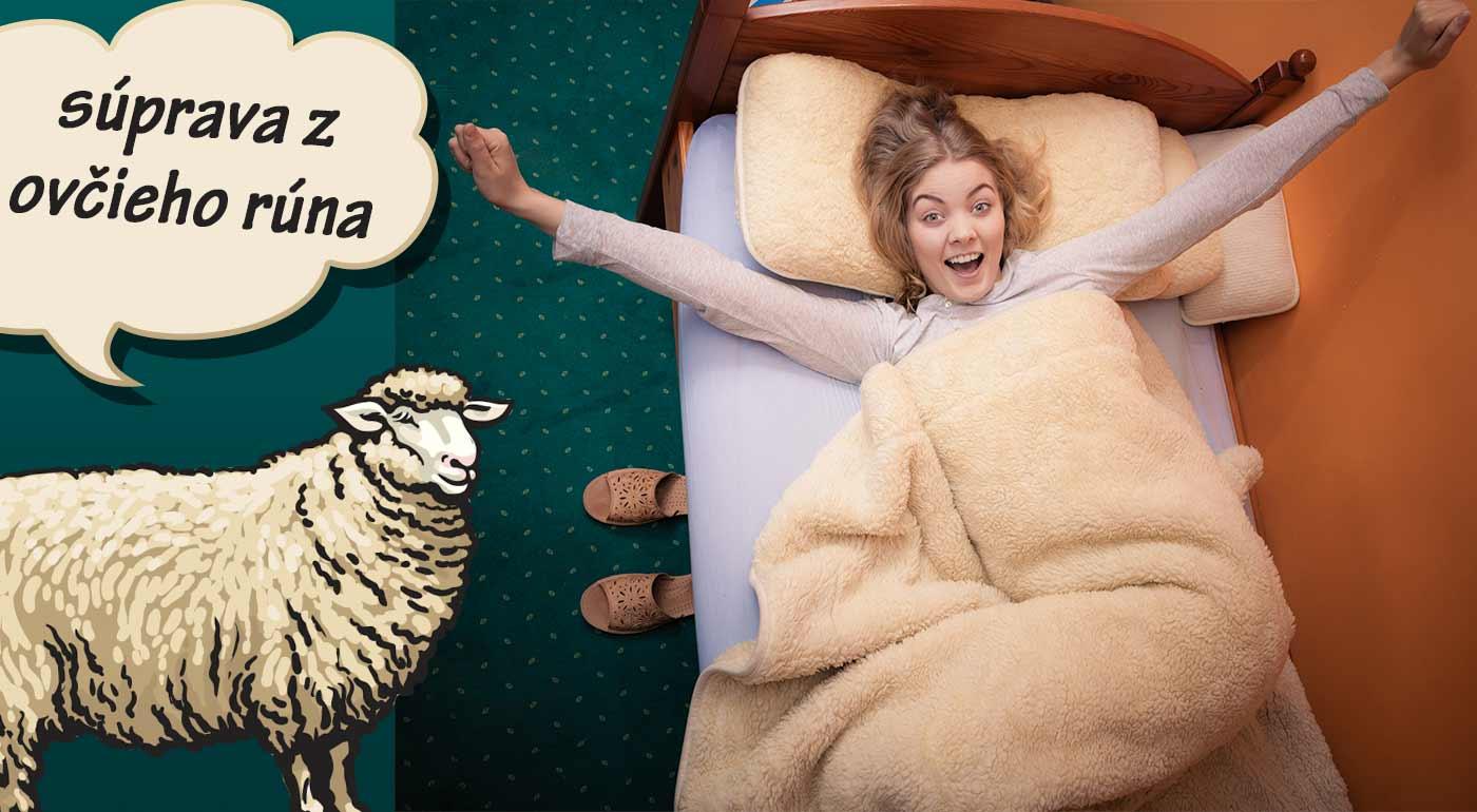 Kvalitná posteľná súprava z ovčej vlny na chladné večery