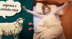 Zľava 58%: Vychutnajte si chladný zimný večer so šálkou kakaa a v teplej deke z pravej ovčej vlny. Vyberte si hrejivú deku s dvoma vankúšmi!