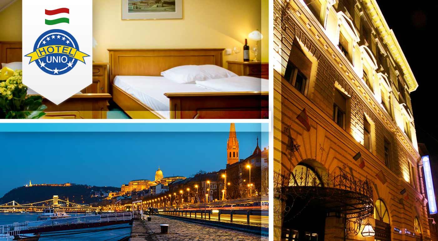 Skvelé 3 dni v centre Budapešti - City Hotel Unio*** Superior pre dvoch vrátane raňajok