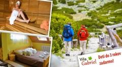 Zľava 52%: Očarujúce Tatry iba pre vás ako na dlani! 4-dňový pobyt pre dvoch vo Vile Gabriel za super cena so skvelým jedlom, saunou a masážou.