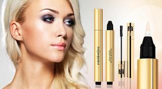 Zľava 60%: Zvýraznite svoju krásu vďaka kvalitnej kozmetike Yves Saint Laurent - rozjasňujúci korektor pod oči v dvoch odtieňoch a predlžujúca maskara s dlhotrvajúcim efektom.