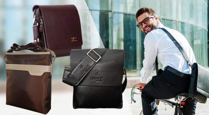 Fotka zľavy: Elegantné pánske tašky cez rameno