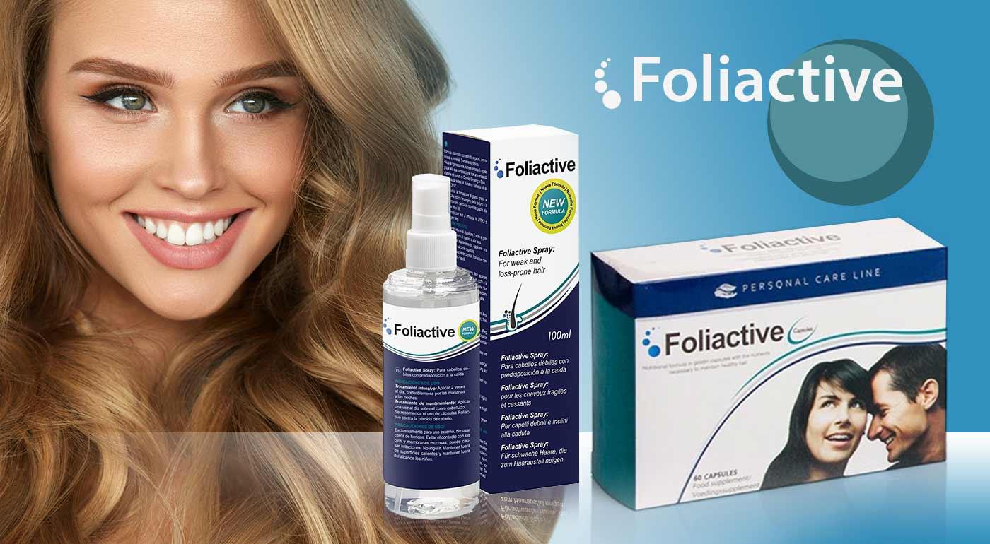 Zastavte vypadávanie vlasov s prípravkami Foliactive - doplnok stravy alebo sprej.