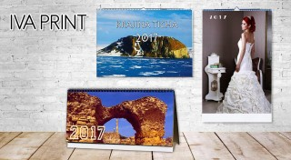 Zľava 50%: Nástenné alebo stolové kalendáre s vašimi fotografiami v rôznych rozmeroch vytlačené na lesklom kriedovom papieri už od 5,30 €. Tešte sa zo svojich najkrajších záberov celý rok 2017!