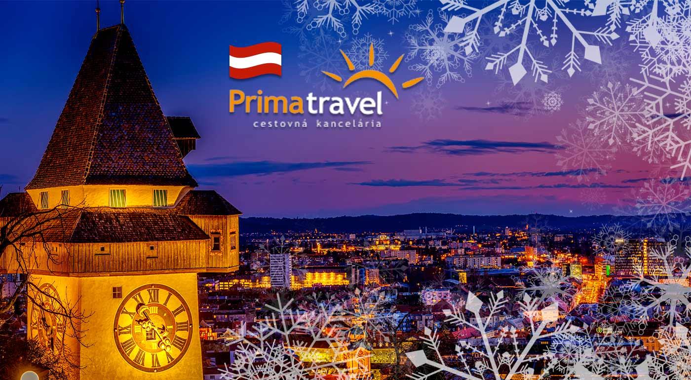 Vianočné trhy s ľadovým betlehemom v Grazi
