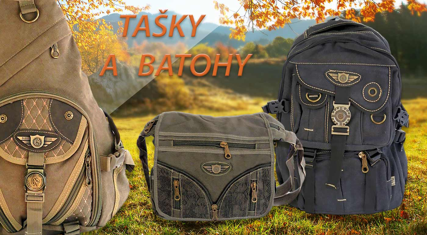 Štýlové tašky a batohy s vojenským vzorom