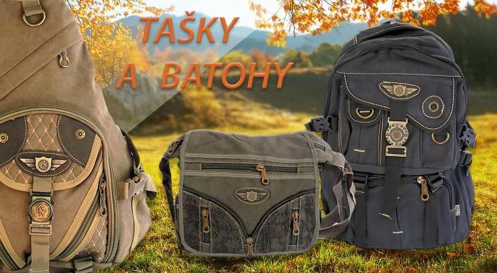 Fotka zľavy: Tašky na plece a batohy s vojenským vzorom