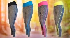 Zľava 50%: Cíťte sa pohodlne pri športovaní v nových elastických legínach v modernom vzore. Vytiahnu vás do lesa aj do mesta s vedomím, že vyzeráte super. Vyberte si svoju veľkosť a farbu a začnite teraz! :)