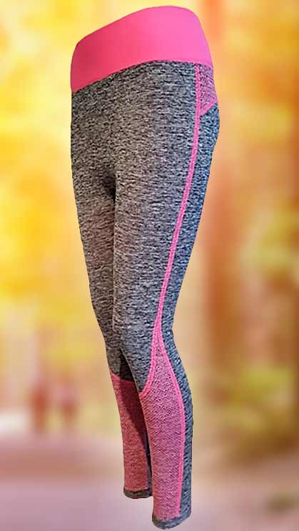 Športové legíny šedo-ružové