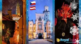 Zľava 42%: Vyberte sa na skvelý zájazd nabitý vianočnou atmosférou - čaká vás návšteva hlavného mesta Vianoc Steyr, rozprávkového Českého Krumlova, beh čertov v Linzi a zámok Hluboká.