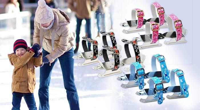 Fotka zľavy: Detské ľadové korčule Kačenky KAJTKI nenechajú nič na náhodu! Sú stabilné, celokovové a zabezpečia vašim maličkým bezpečný a hladký štart. Na výber z troch farieb.
