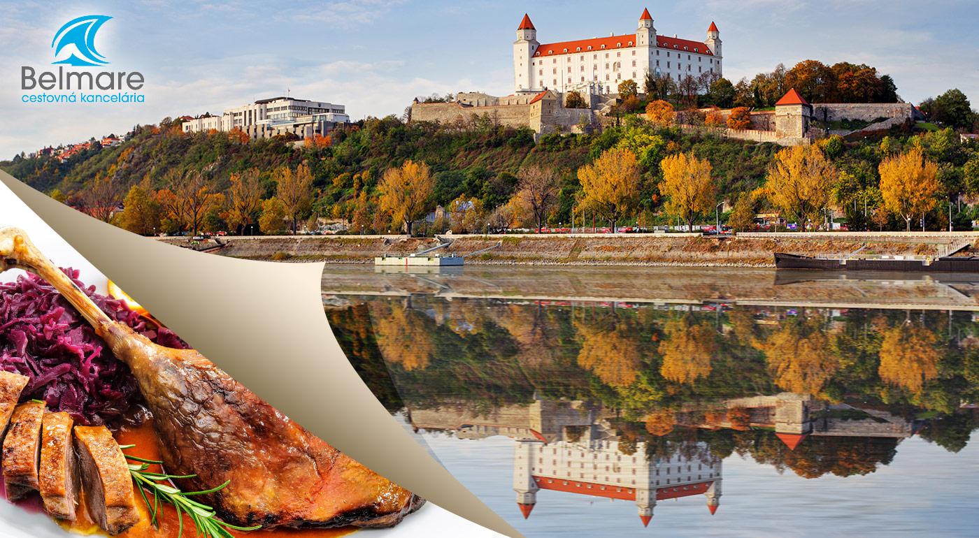 2-dňový zájazd na husacie hody vo Viničnom s prehliadkou Bratislavy -  nástupné miesta na východnom a strednom Slovensku