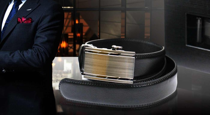 Fotka zľavy: Elegantné pánske opasky s kovovou sponou