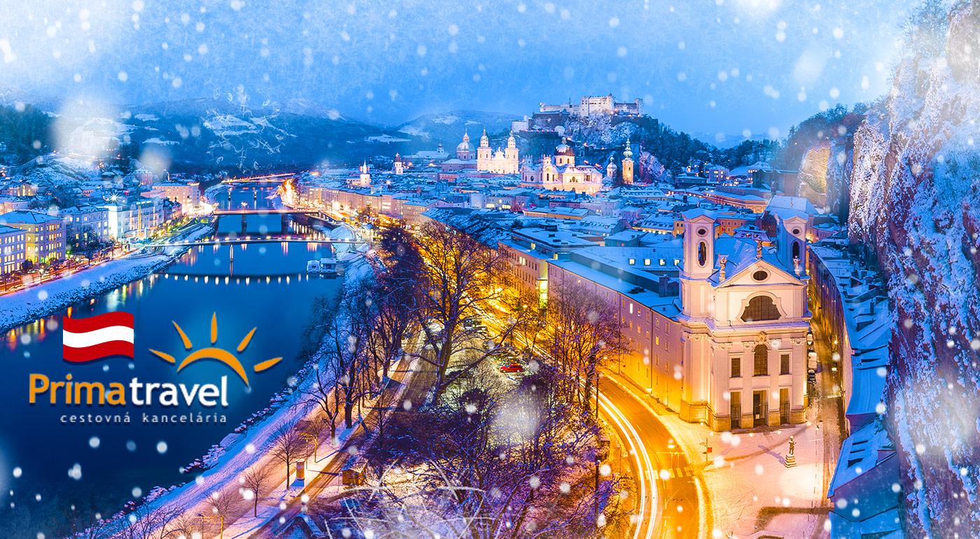 Nechajte sa uniesť nádherou vianočného Salzburgu, dedinky Hallstatt či jazera Wolfgangsee