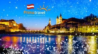 Zľava 40%: Mesto Steyr v Rakúsku je povinnou zastávkou pre všetkých milovníkov Vianoc. Nasajte vianočnú atmosféru i vôňu dokonalých lineckých koláčikov počas 2-dňového zájazdu.