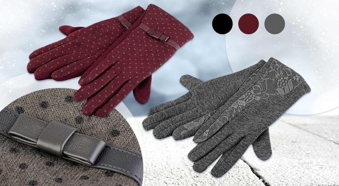 Zľava 38%: Túto zimu vám na prsty celkom určite zima nebude. Elegantné rukavice s bodkami alebo čipkou vám dajú punc elegantnej dámy aj keď bude vonku sibírska zima!