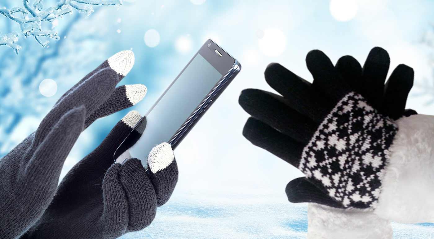 Dámske alebo pánske rukavice na dotykové mobilné telefóny