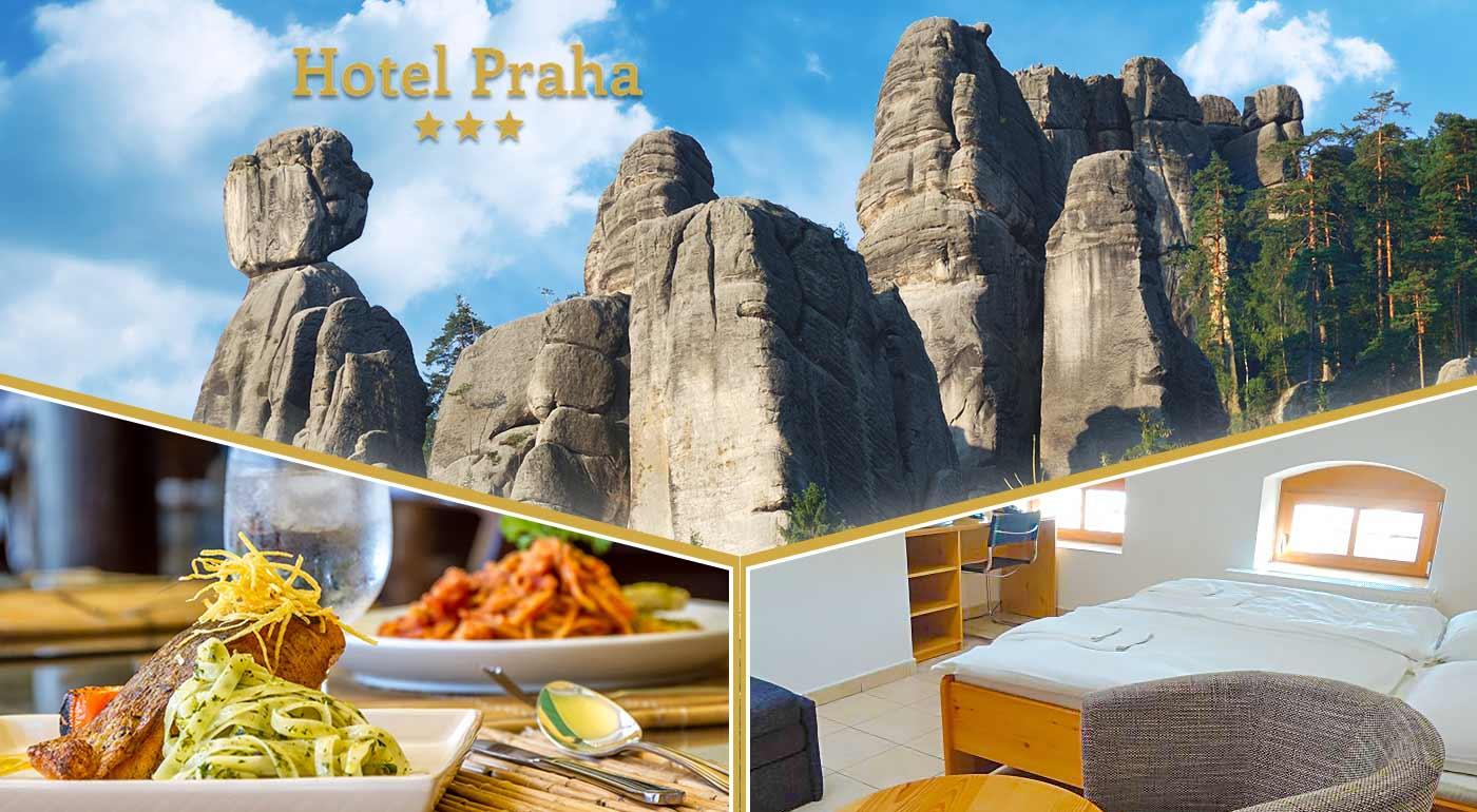 Fotka zľavy: Vymeňte Tatry za Adršpachy a príďte si užiť chvíle pohody a nádhernú prírodu s vašimi najbližšími. Pozýva vás útulný Hotel Praha *** v Broumove.