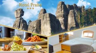 Zľava 49%: Vymeňte Tatry za Adršpachy a príďte si užiť chvíle pohody a nádhernú prírodu s vašimi najbližšími. Pozýva vás útulný Hotel Praha *** v Broumove.
