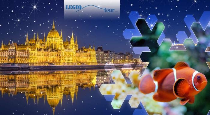 Fotka zľavy: Spoznajte podmorský svet v Tropicariu v Budapešti a naplňte si bruchá fantastickými špecialitami na vianočných trhoch v tejto vysvietenej metropole Maďarska.