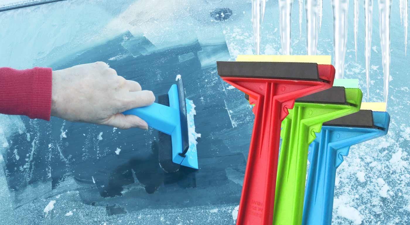 Fotka zľavy: Najlepšia škrabka na trhu MURSKA na odstránenie ľadu s mosadzným ostrím do auta! Stačí jeden ťah a čelné sklo na aute bude ako nové!