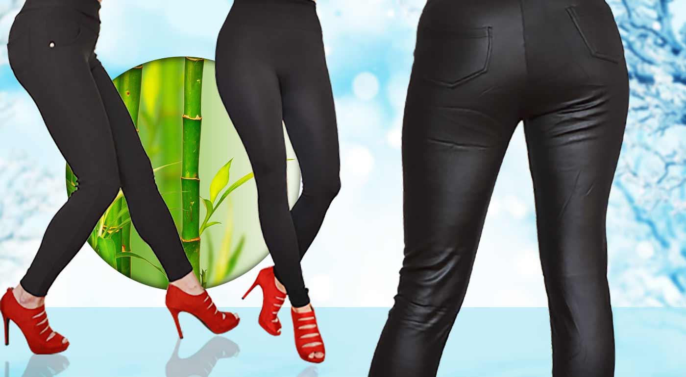 91e50c828113 Hrejivé legíny alebo nohavice z bambusového vlákna - vykročte do zimy so  štýlom!