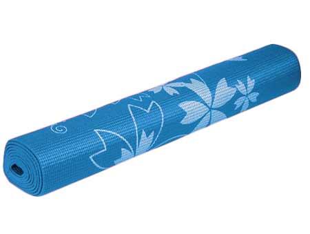 Karimatka na cvičenie - modrá s potlačou