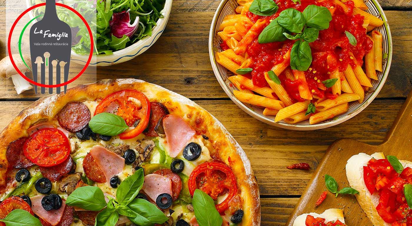Fantastická pizza alebo cestoviny v rodinnej reštaurácii La Famiglia v Ružomberku za skvelú cenu pri príležitosti 1. narodenín podniku