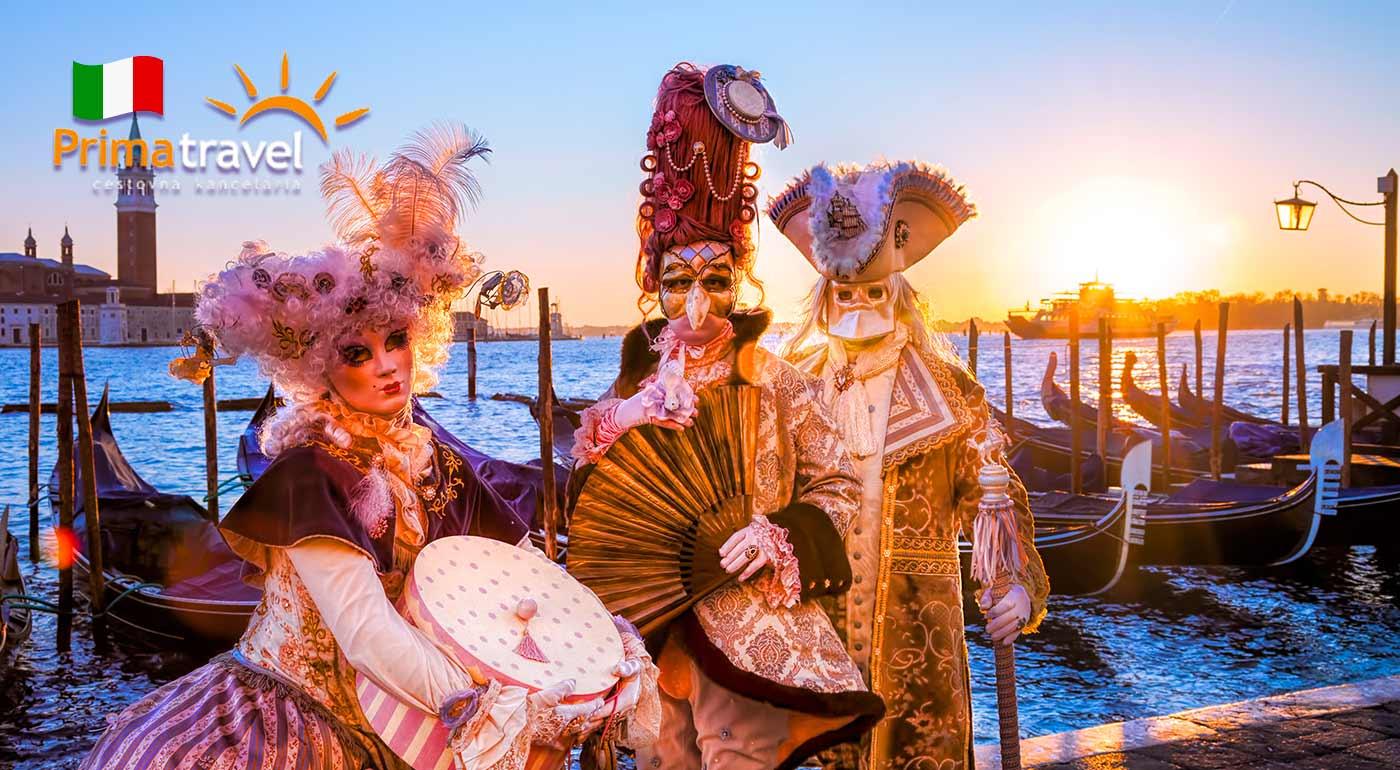 Karneval v Benátkach na 3 dni s možnosťou návštevy ostrovov Murano a Burano