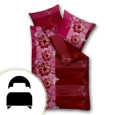 Obliečky pre jednolôžko - model C bordové kvety