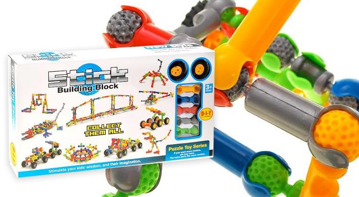 Zľava 34%: Stavebnicová skladačka Stick Building Block urobí radosť vašim deťom. Stimulujte ich predstavivosť, kreativitu i logiku pomocou zábavnej hry.