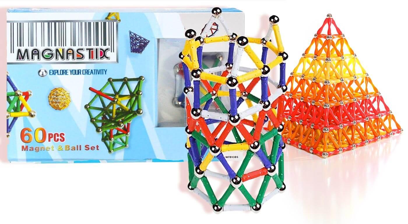 Magnetická stavebnica Magnastix poteší nielen malých inžinierov. Prekvapte ich užitočným darčekom, ktorý rozvíja predstavivosť i logické myslenie.