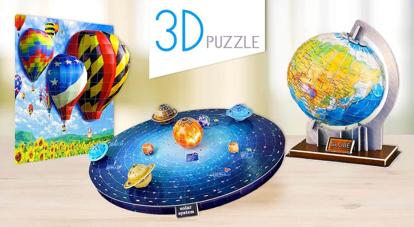 Fotka zľavy: Klasické puzzle sú out, vyskúšajte 3D skladačky! Vyberte si z troch motívov a obdarujte vašich najdrahších výnimočným darčekom, ktorý vám odhalí nové dimenzie.