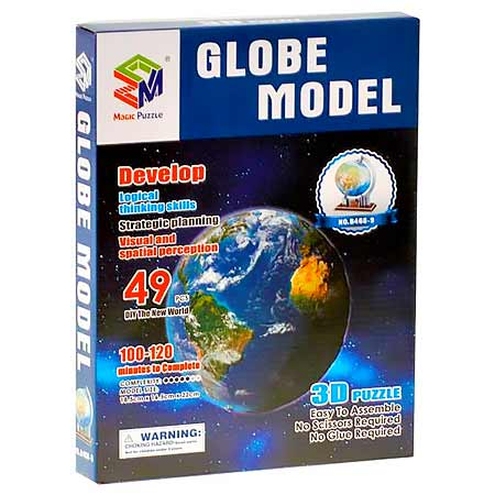 Magic Puzzle Globe Model 3D - glóbus