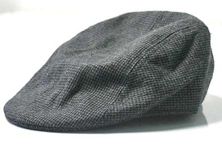 Pánska baretka - farba čierno-sivá so vzorom