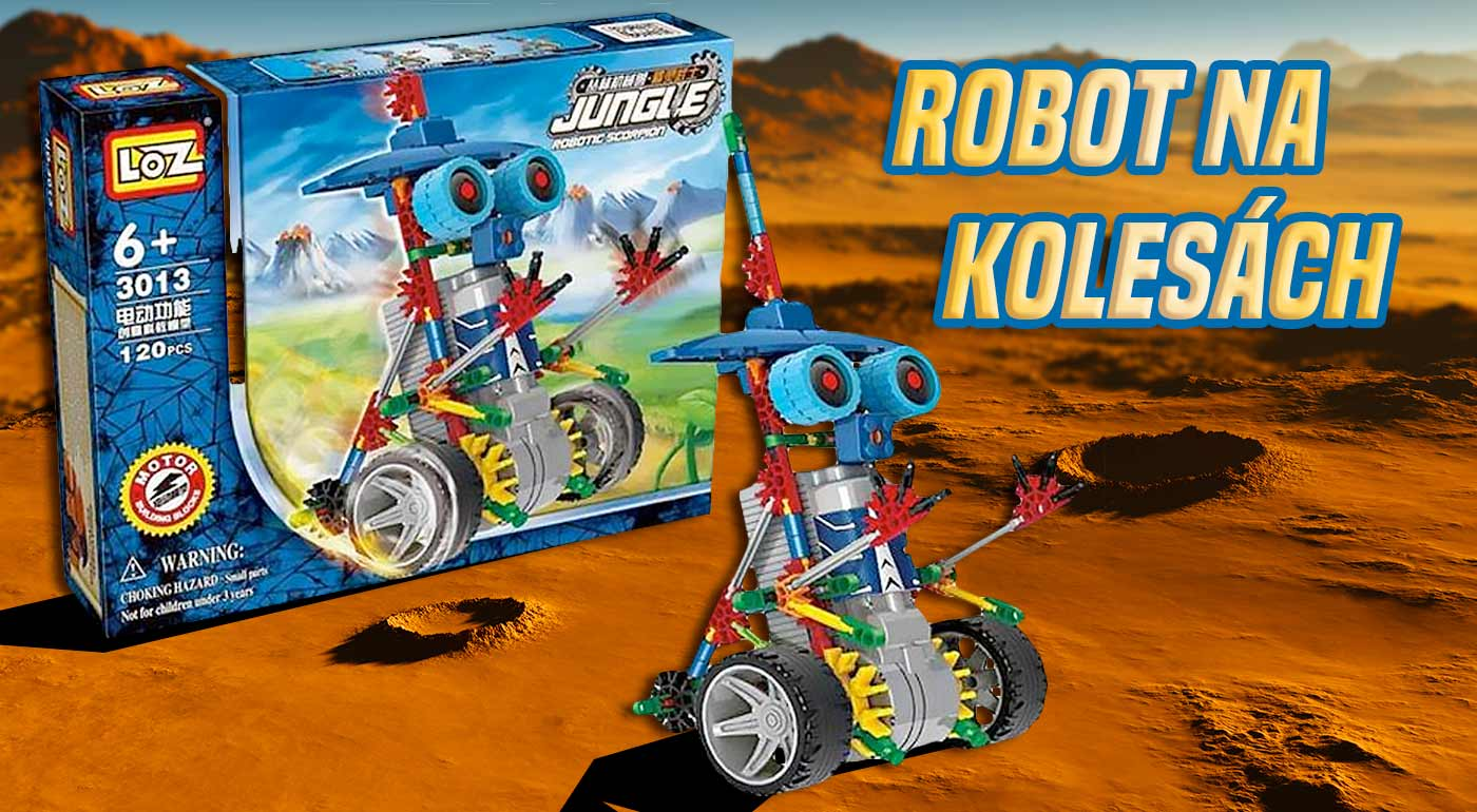 Robot na kolesách - fantastická stavebnica pre deti, ktorá podnecuje logické myslenie