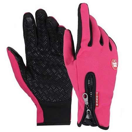 Zimné rukavice - ružová farba, veľkosť S
