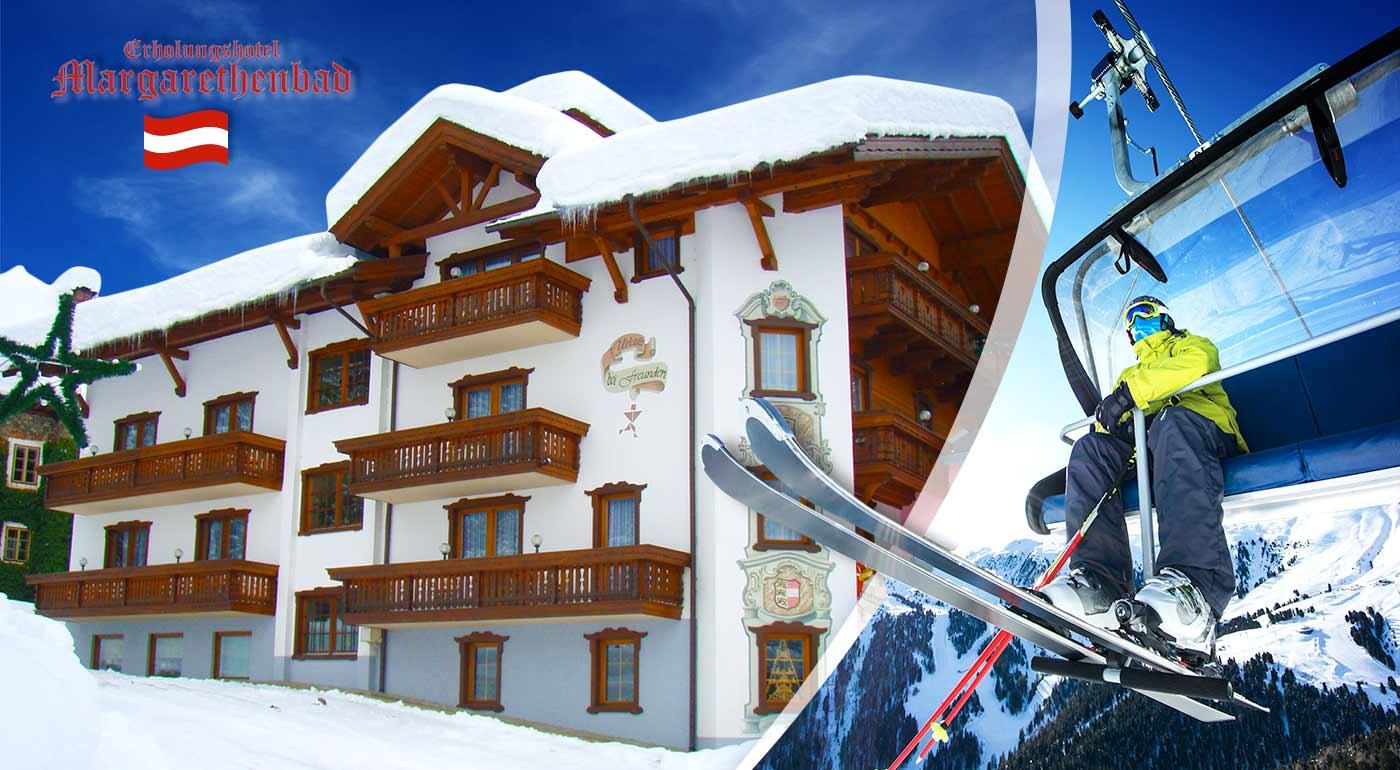 Wellness či lyžovačka v rakúskych Alpách - užite si zimnú dovolenku v kúpeľnom hoteli Erholungshotel Margarethenbad ****