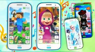 Zľava 72%: Detské mobilné telefóny Talking Tom, Frozen, Máša a medveď alebo Minecraft naučia vaše deti angličtinu hravou formou bez bifľovania. Ponúkajú pesničky, rozprávky i uspávanky v anglickom jazyku.